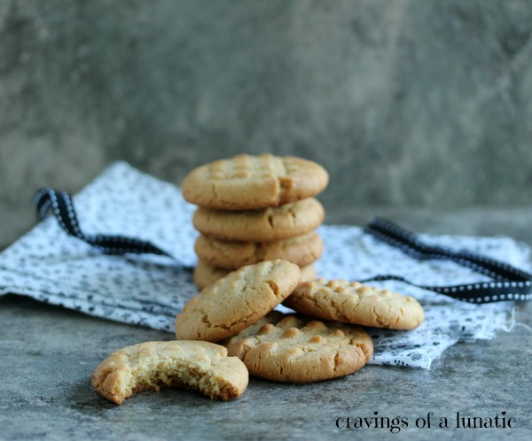 Mom's Peanut Butter Cookies by Cravings of a Lunatic