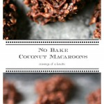 Pinterest Collage Image of No Bake Coconut Macaroons
