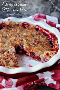 Cherry Almond Macaroon Pie
