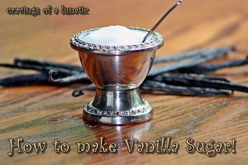 Vanilla Sugar from cravingsofalunatic.com- How to make vanilla sugar. This quick and easy DIY recipe is the perfect way to make vanilla flavoured sugar.