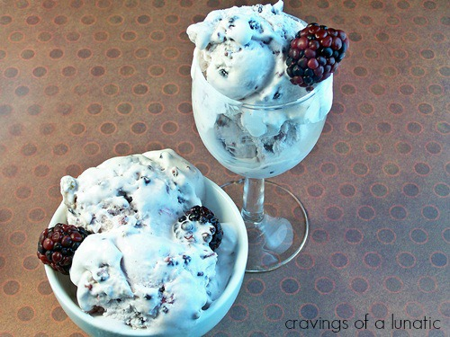 Blackberry and Vanilla Ice Cream by Cravings of a Lunatic