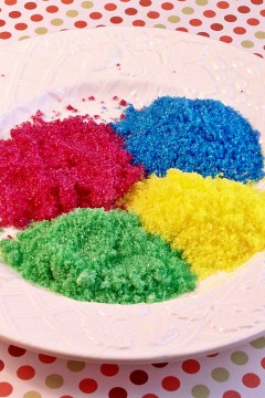 Coloured Sugars: A Fun Experiment!!!