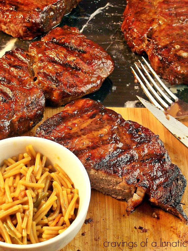 Grilled Rib Steak | Cravings of a Lunatic | Grilled to perfection, these rib steaks will make your mouth water and your heart sing. No lie!