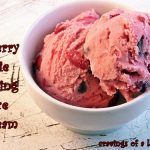 Cherry Pie Ice Cream with Chocolate Chips #icecreamsundays