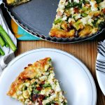 Bacon Asparagus Quiche by Katherine Martinelli