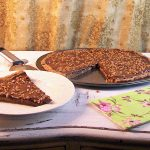 Toll House Cookie Pizza with Nutella Ganache and Skor Toppings for Burwell's Vintage Recipe Swap