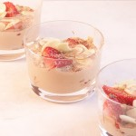 Chocolate Zabaglione with Strawberries and Almonds- A Vintage Recipe Swap