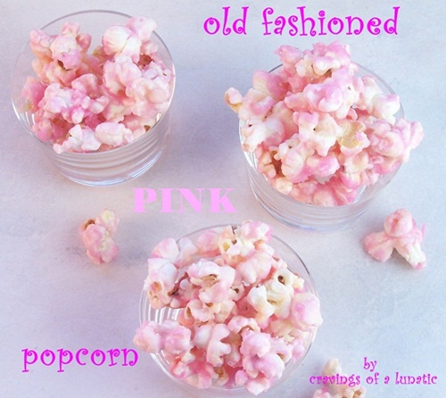 Old Fashioned Pink Popcorn | Cravings of a Lunatic | #pink #popcorn #candy #pinkpopcorn #snacks