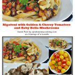 Rigatoni with Golden & Cherry Tomatoes and Baby Bella Mushrooms: Guest Post by Sandra's Easy Cooking