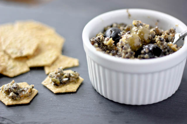 Green and Black Olive Tapenade {Guest Post by Bake Your Day} on cravingsofalunatic.com- Wonderful and easy dip recipe that would be ideal for parties.