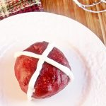 Red Velvet Hot Cross Buns for our Vintage Recipe Swap