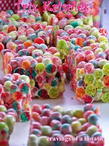 Trix Krispies   Cravings of a Lunatic   #trix #cerealtreats #easyrecipe