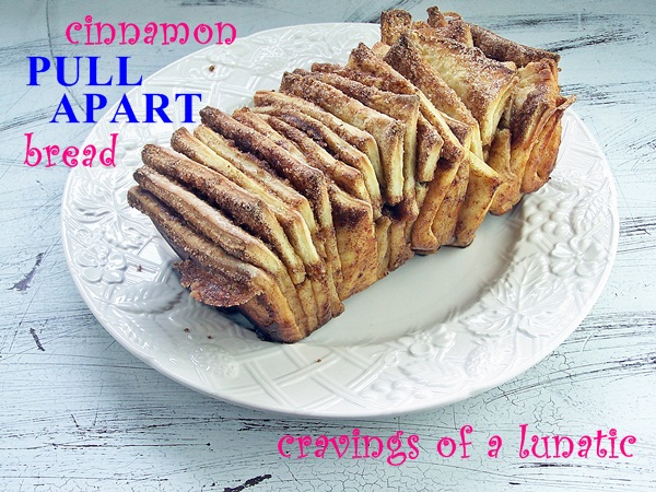 Cinnamon Pull Apart Bread | Cravings of a Lunatic | #cinnamon #bread #sweetbread