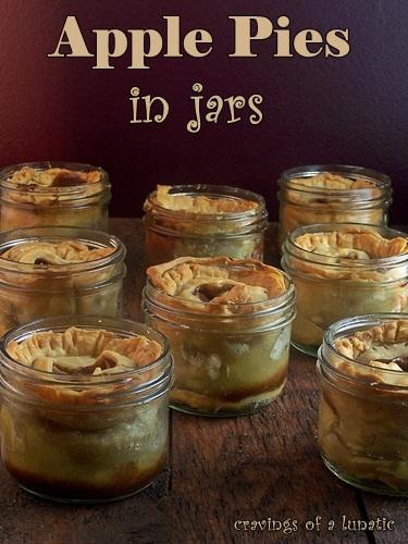 Apples Pies in Jars   Cravings of a Lunatic   #apple #applepie #dessert #pie