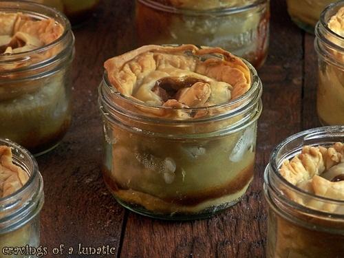 Apple Pie in a Jars   Cravings of a Lunatic   #apple #pie #masonjar #cutefood #dessert