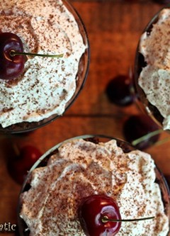 Black Forest Brownie Mini Trifles