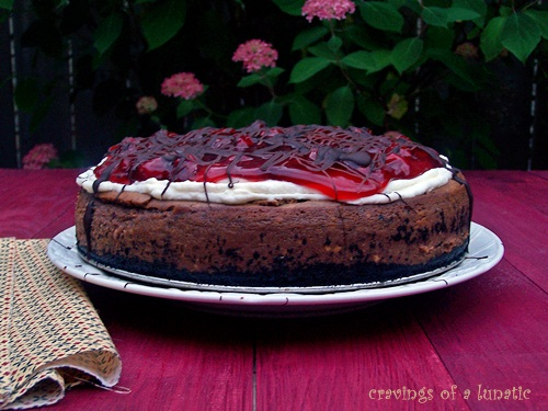 Black Forest Cheesecake | Cravings of a Lunatic | #blackforest #cherry #cheesecake #dessert #chocolate