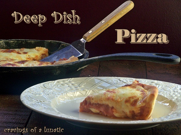 Deep Dish Pizza by Cravings of a Lunatic