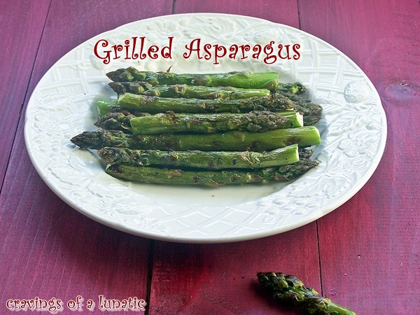 Grilled Asparagus by Cravings of a Lunatic