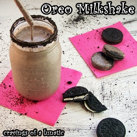Thick Oreo Milkshake by Cravings of a Lunatic