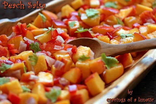 Peach Salsa | Cravings of a Lunatic