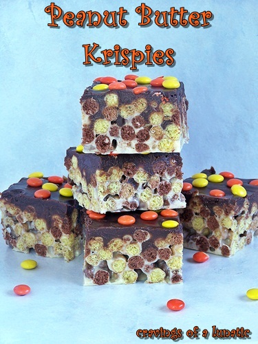 Peanut Butter Krispies | Cravings of a Lunatic | Perfect for peanut butter lovers!