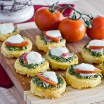 Pesto, Mozzarella Polenta Appetizers: Guest Post by Strands of my Life