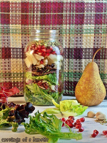 Pomegranate Pear Pistachio Salad by Cravings of a Lunatic