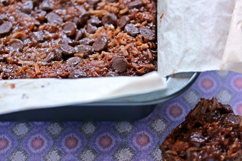Samoas aka Coconut Caramel Cookie Bars by Cravings of a Lunatic | Easy to make, hard to resist!