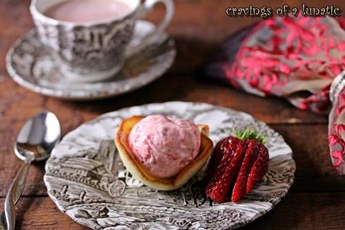 Strawberry Sherbert in Cooky Cups by Cravings of a Lunatic