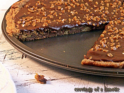 Toll House Cookie Pizza with Nutella Ganache and Skor Toppings by Cravings of a Lunatic