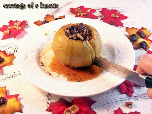 Baked Apple with Pecans and Dried Cherries by Cravings of a Lunatic