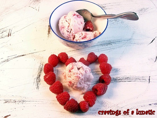 Raspberry Ice Cream by Cravings of a Lunatic
