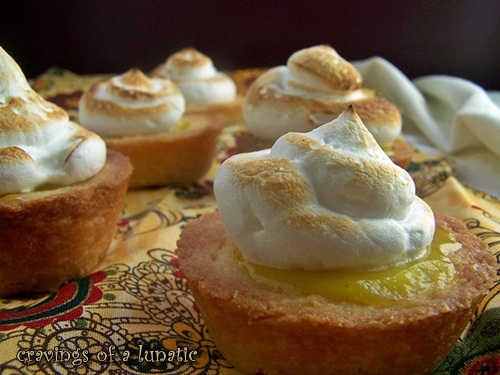 Mini Meyer Lemon Meringue Tarts by Cravings of a Lunatic