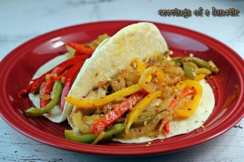 Easy Chicken Fajitas from cravingsofalunatic.com- A fusion of Mexican- Asian style Chicken Fajitas that are both easy and tasty!
