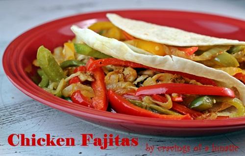 Chicken Fajitas by Cravings of a Lunatic