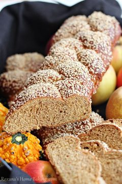 Whole Wheat Pumpkin Challah from Roxana's Home Baking
