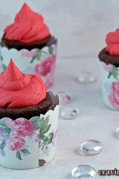 Cherry Chocolate Brownie Cupcakes, BDTK/Chocolate Moosey and Foodie Penpal