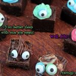 Chocolate fudge cooked to perfection and turned into little monsters.