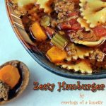 Slow Cooker Hamburger Soup | Cravings of a Lunatic | #slowcooker #soup #dinner
