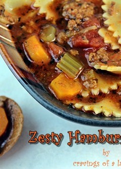 Zesty Hamburger Soup | #SlowCookerSaturdays