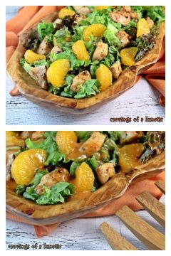 Mandarin Orange Chicken Salad from cravingsofalunatic.com- This easy salad recipe is filled with chicken and mandarin oranges. It's perfect for lunch or dinner.