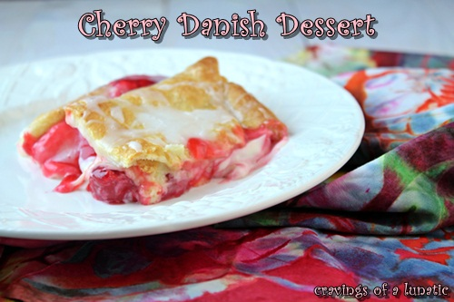 Cherry Danish Dessert | Cravings of a Lunatic | Super easy to make and will have you coming back for seconds. Or thirds.