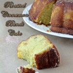 Peach and Roasted Cinnamon Bundt Cake with Cinnamon Sugar #Bundtamonth