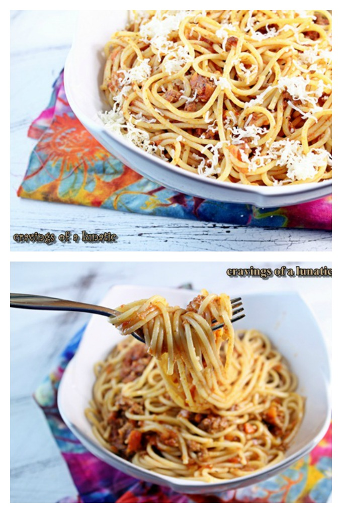 Poggio Alloro Beef Ragu Sauce {Ragu alla Poggio Alloro} from cravingsofalunatic.com- This classic pasta recipe is simple to make and uses fresh ingredients. It will quickly become your family's favourite pasta recipe!