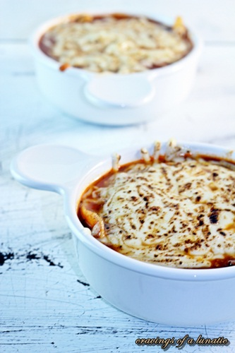 Slow Cooker Lasagna Soup, browned with a blow torch by Cravings of a Lunatic