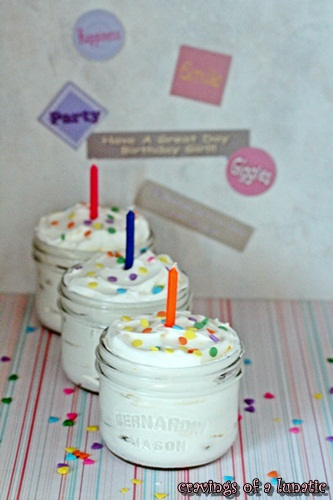 No Bake Cake in a Jar