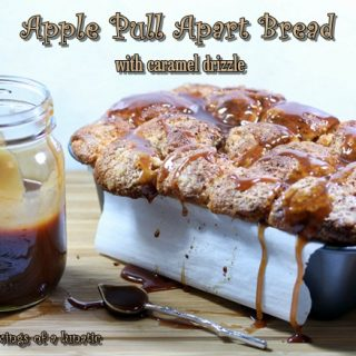 Apple Pull Apart Bread with Caramel Drizzle | Cravings of a Lunatic | #apple #pullapartbread #caramel #dessert