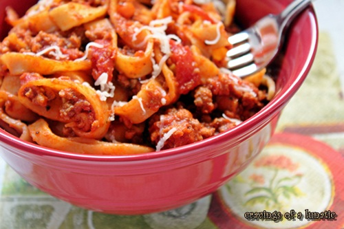 Bolognese Sauce by Cravings of a Lunatic