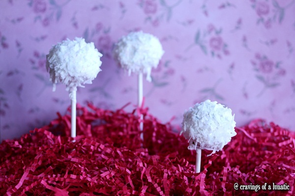 Coconut Cherry Cake Pops